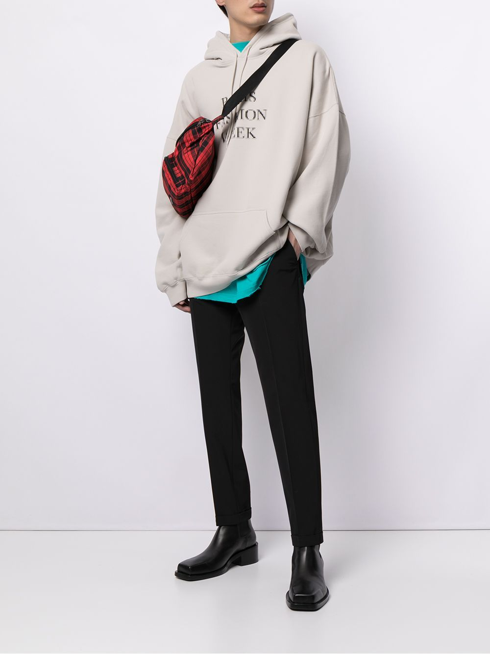 BALENCIAGA Paris Fashion Week Oversized Hoodie Grey