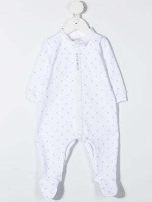 GIVENCHY KIDS Logo Monogram Babygrow Set White