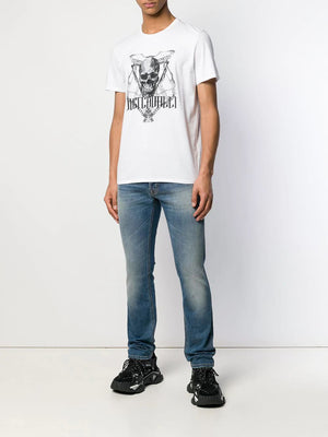 Cavalli Skull Chain T-Shirt - Maison De Fashion