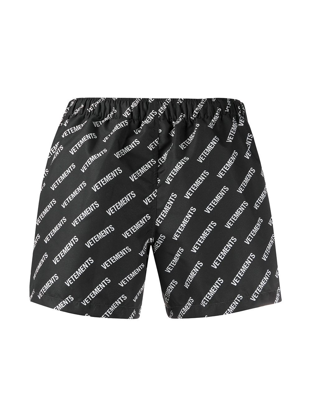 VETEMENTS logo swim shorts black - Maison De Fashion