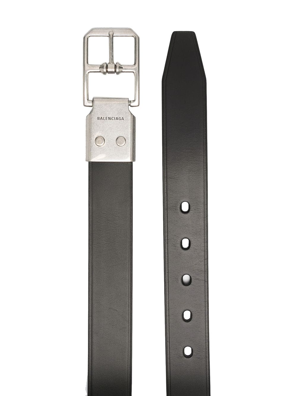 BALENCIAGA Leather Belt Black - Maison De Fashion