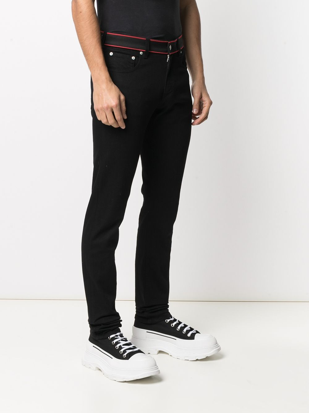 ALEXANDER MCQUEEN Slim-fit jeans Black - Maison De Fashion