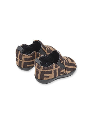 FENDI KIDS infant FF slip-on sneakers brown - Maison De Fashion