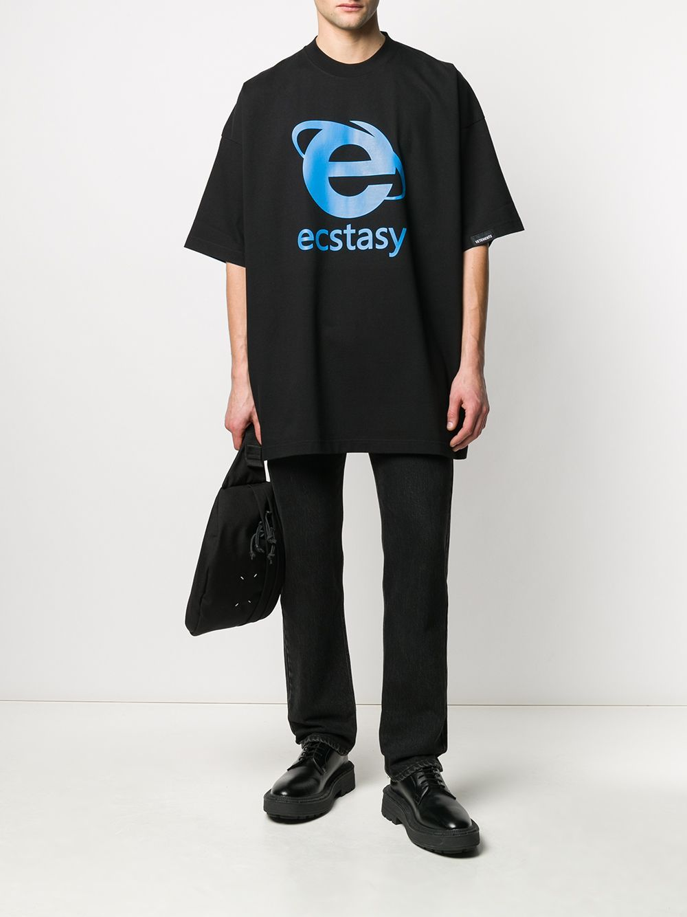 VETEMENTS ecstasy logo t-shirt black
