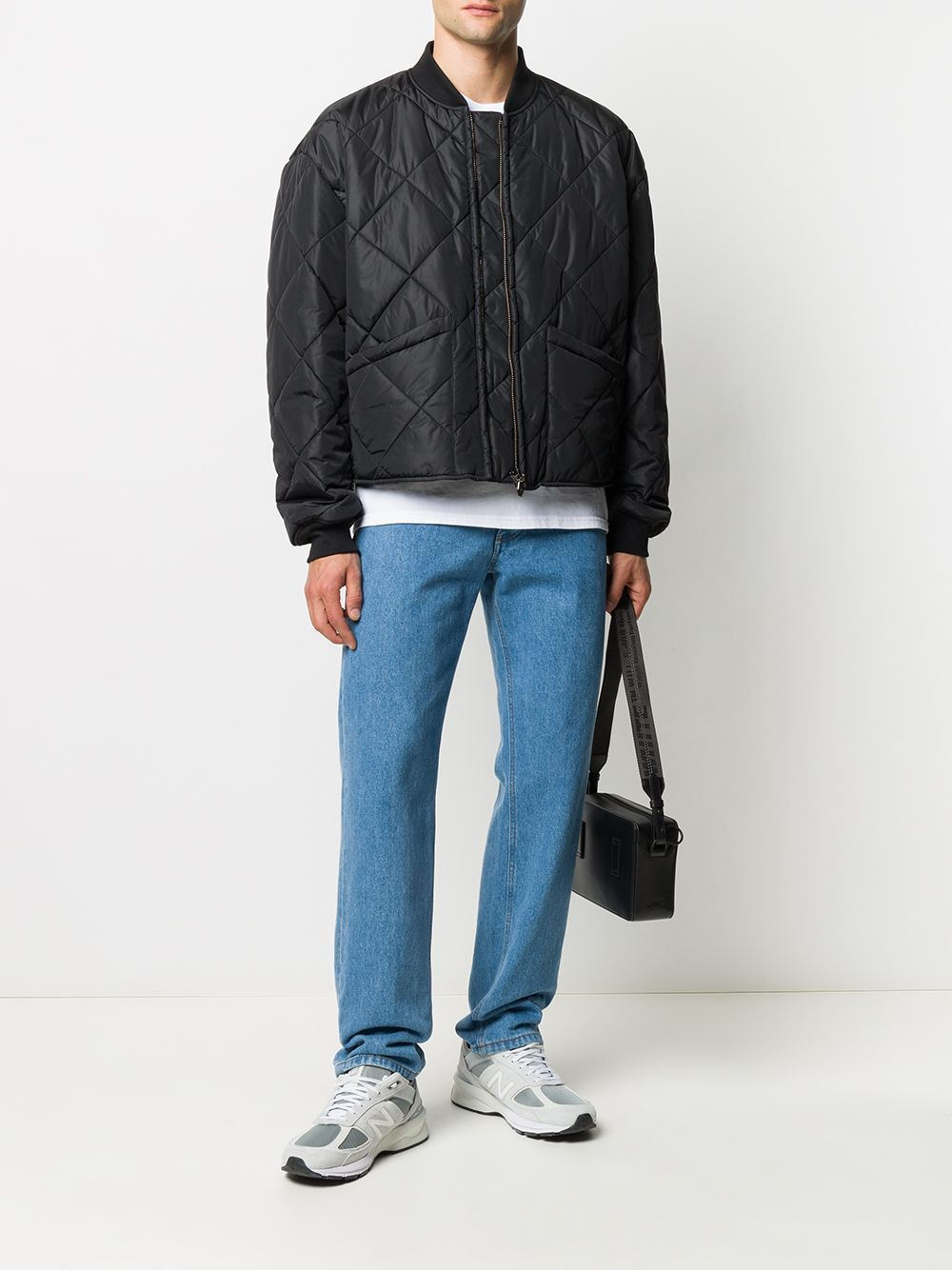 OPENING CEREMONY Boxy Fit Quilted Bomber Jacket Black