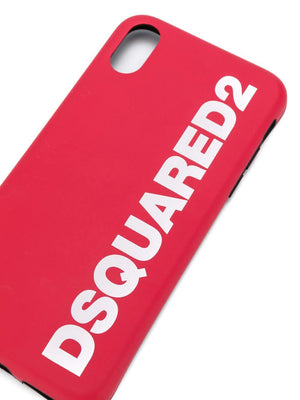Dsquared2 logo iPhone X Case red - Maison De Fashion