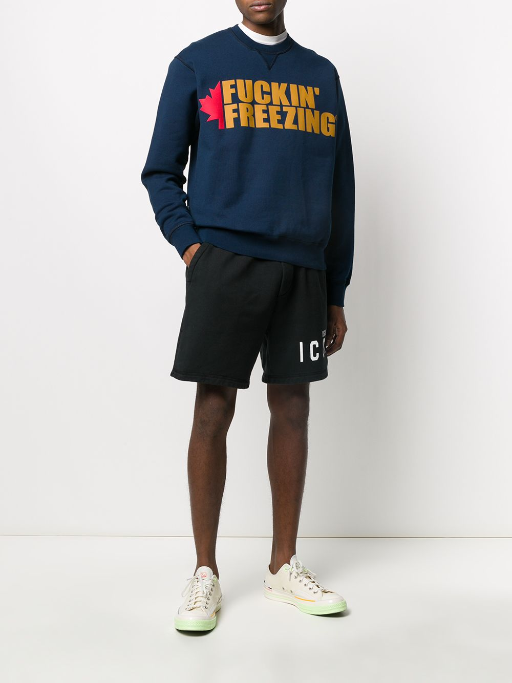 DSQUARED2 F*ckin' Freezing Sweatshirt Navy/Gold