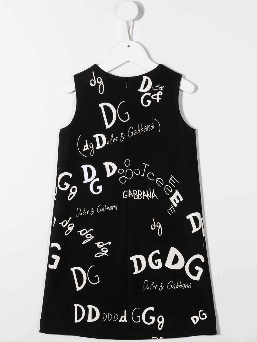 DOLCE & GABBANA KIDS All Over Logo Dress Black