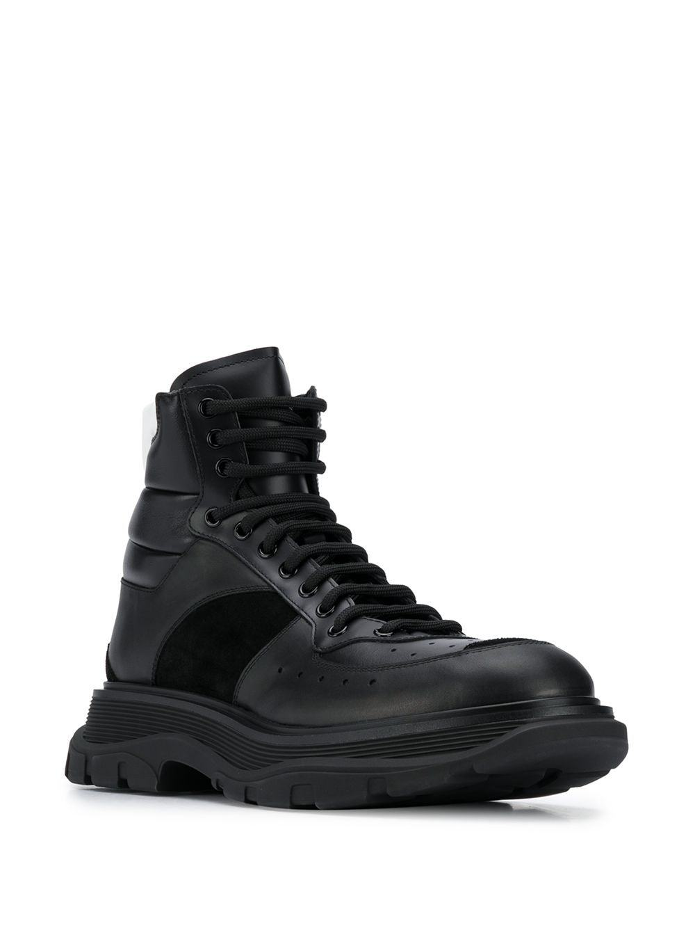 Alexander McQueen Lace Up High Top Sneakers Black
