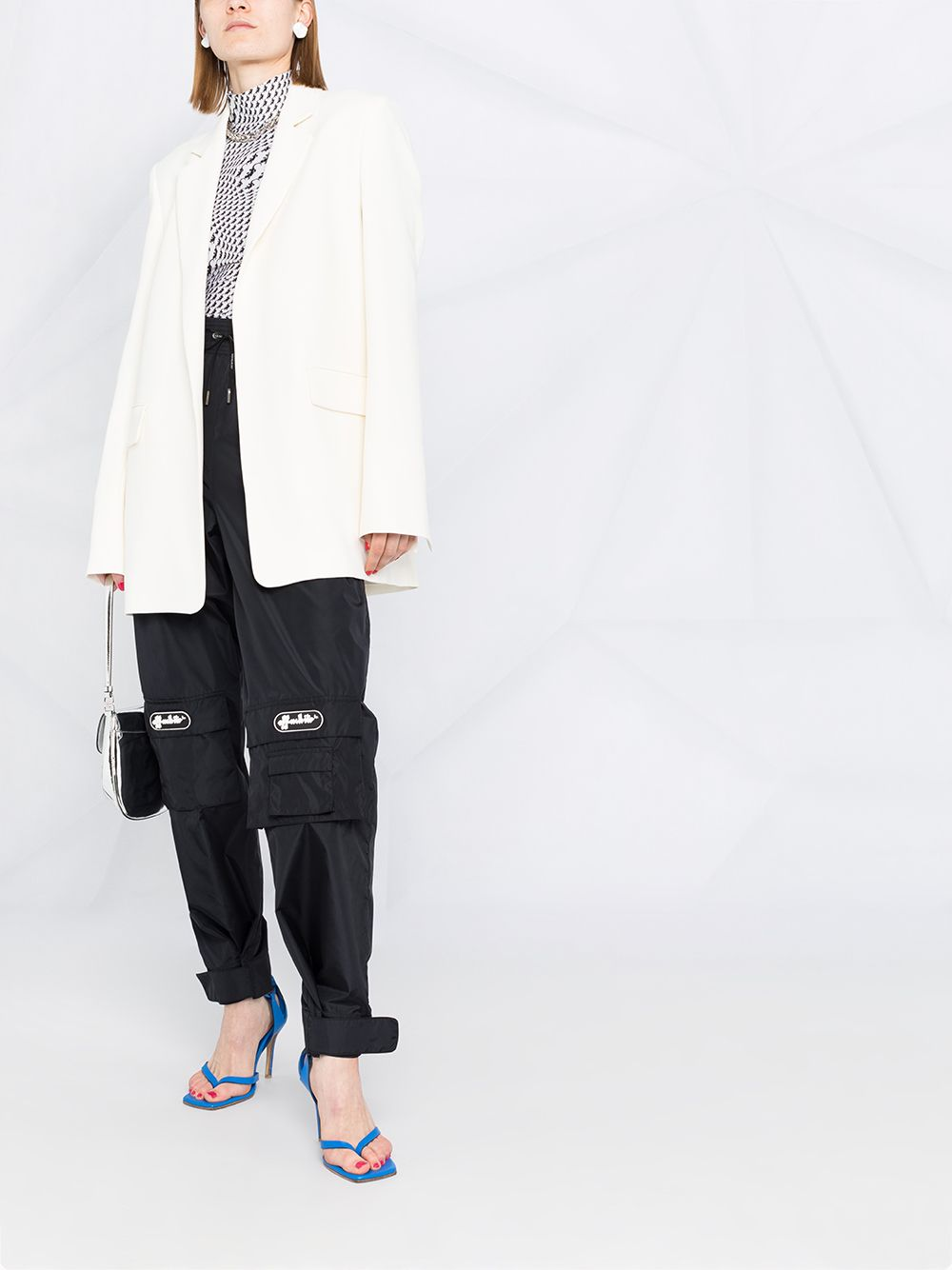 OFF-WHITE Women Nylon Logo Cargo Pant Black - Maison De Fashion