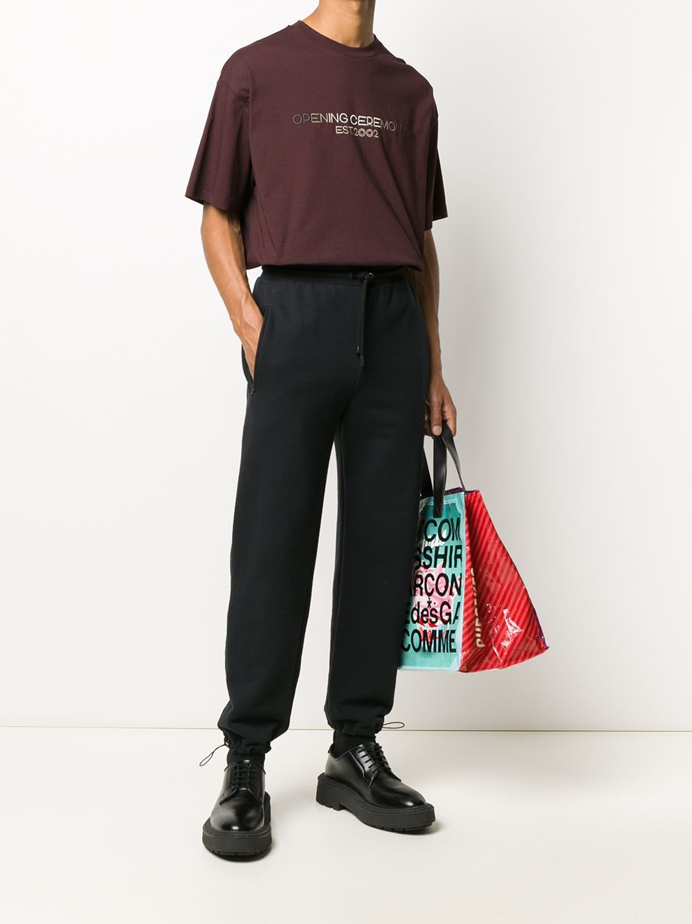 Opening Ceremony Box Logo Print Sweatpants Black