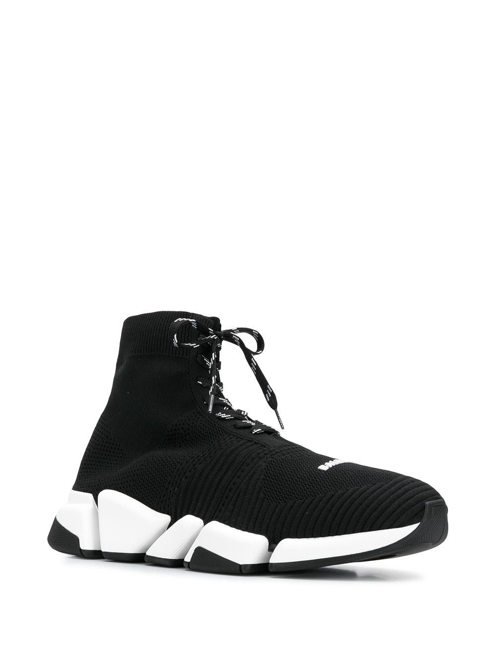 BALENCIAGA Speed 2.0 Lace-Up Sneaker Black/White