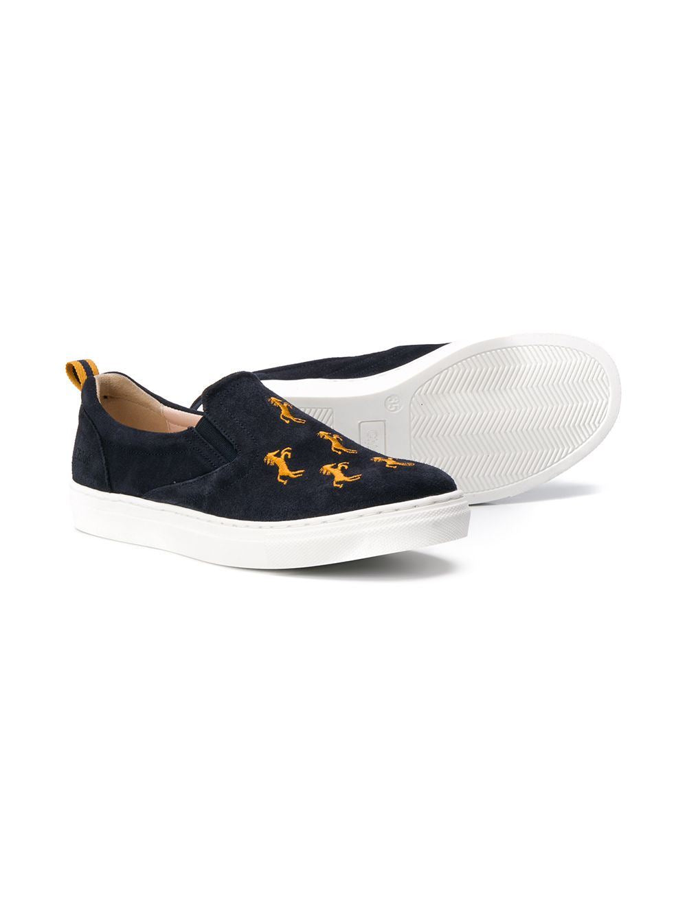 CHLOÉ KIDS embroidered sneakers Navy - Maison De Fashion