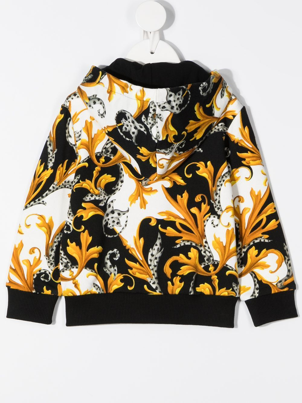 VERSACE KIDS Baby Baroque Print Zip-up Jacket White/Gold