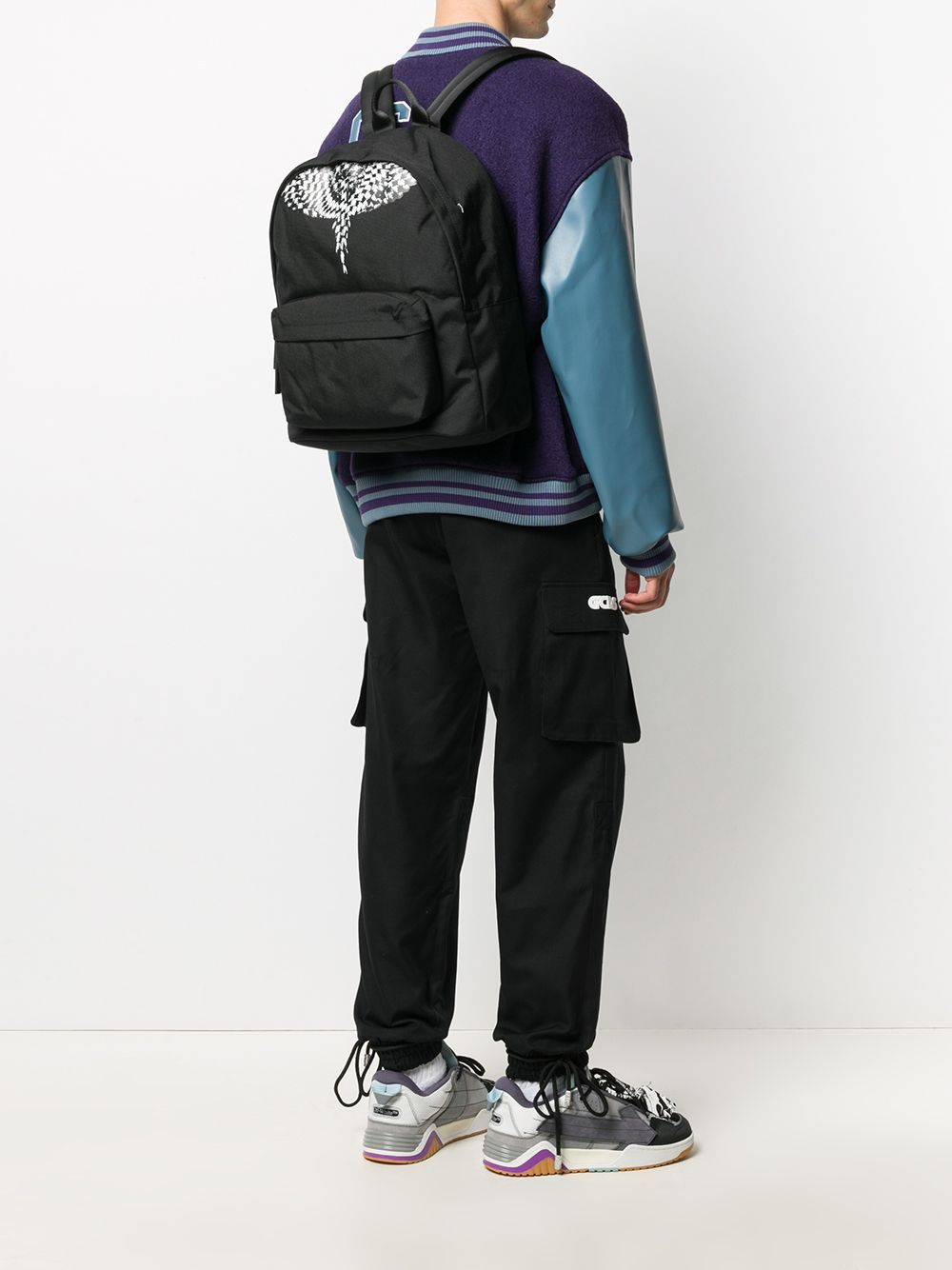 MARCELO BURLON Cross Pattern Wings Backpack