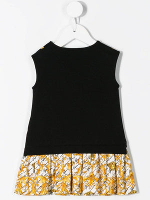 VERSACE KIDS baby sleeveless chain logo print dress