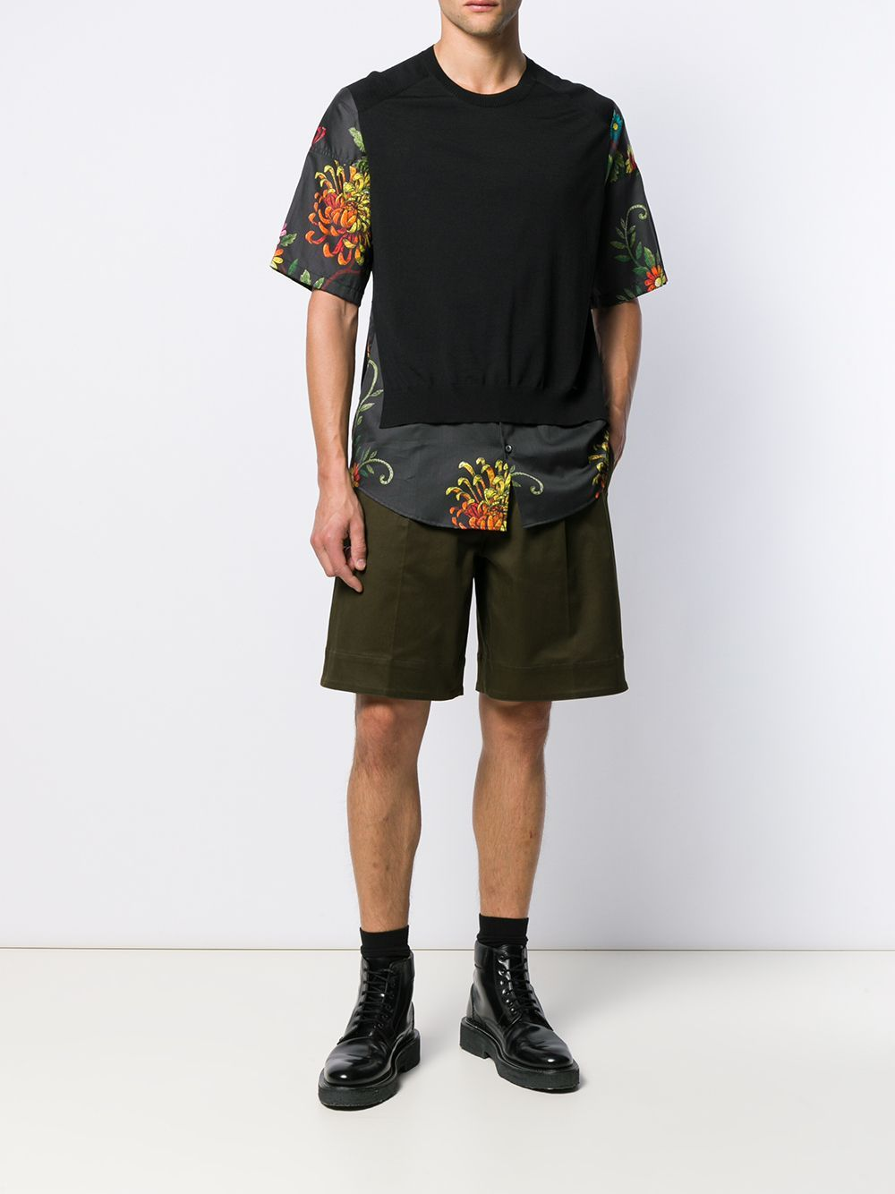 DSQUARED2 floral sleeve t-shirt - Maison De Fashion