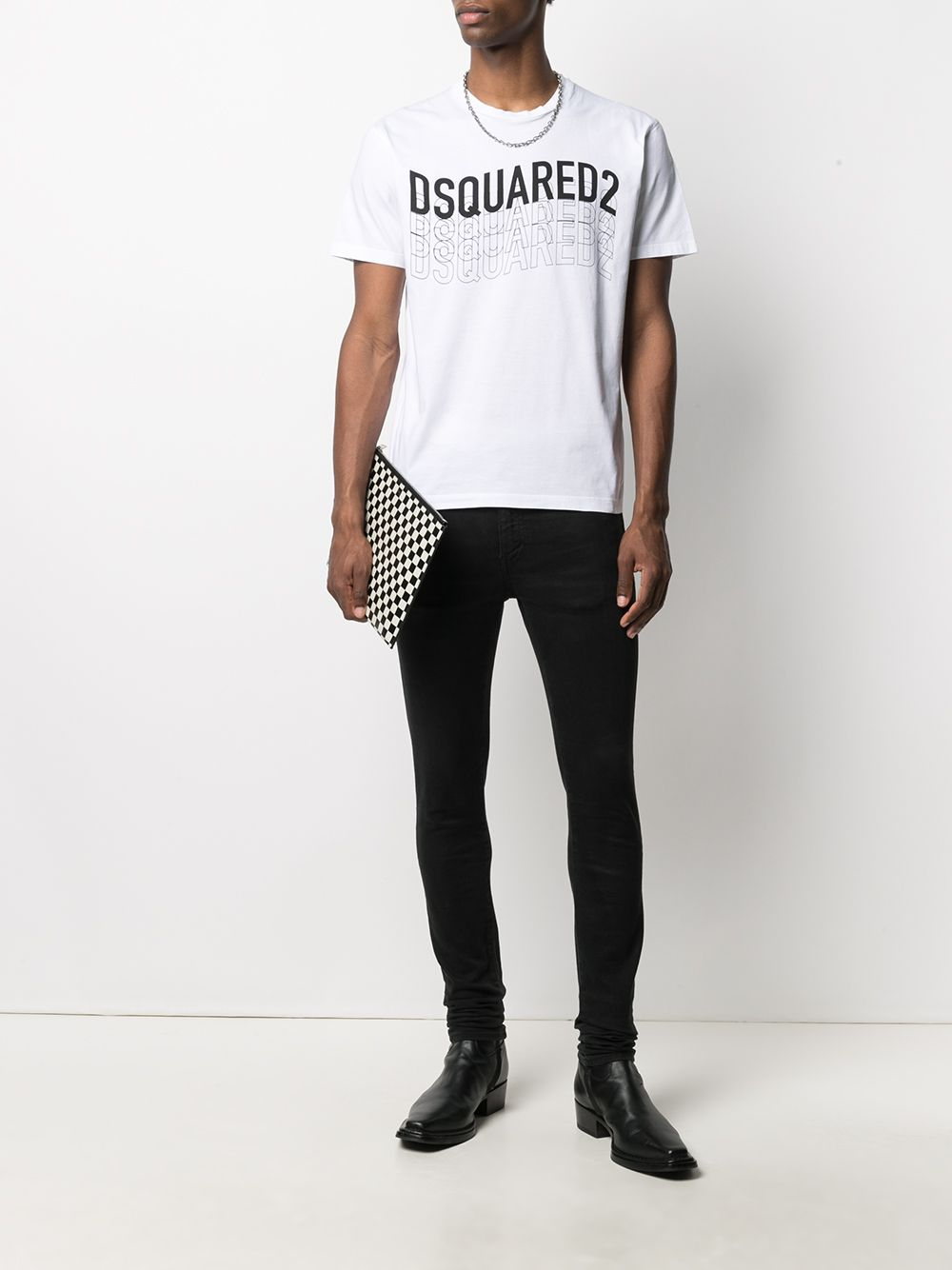 DSQUARED2 Wave Logo T-Shirt White