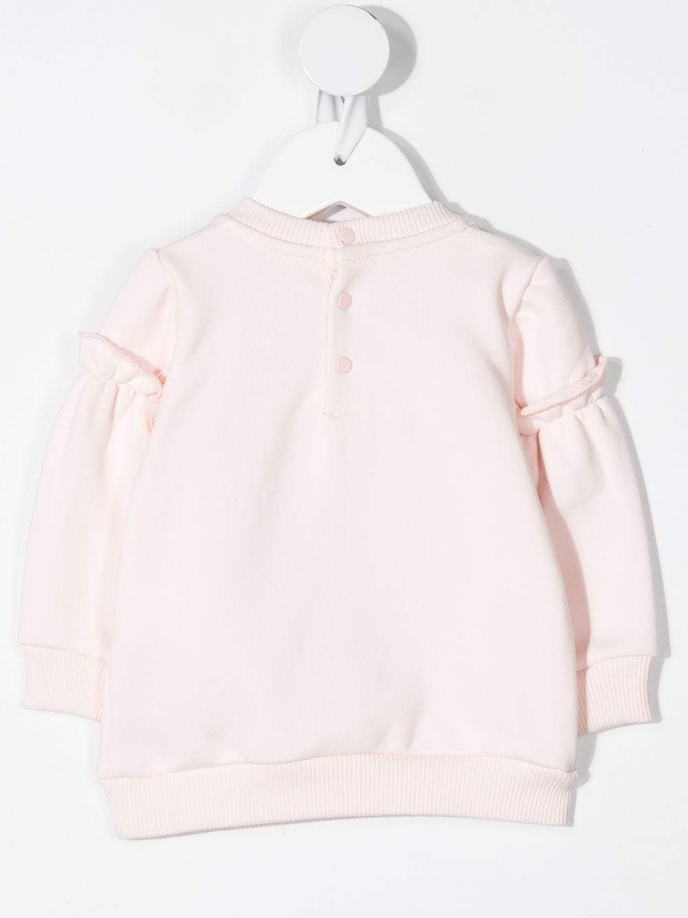 GIVENCHY BABY Holographic Logo Print Sweatshirt Pink