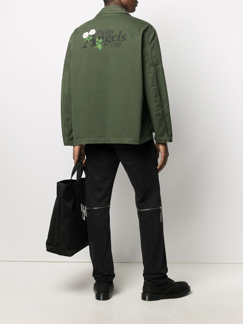 PALM ANGELS Military Buffalo Track Jacket