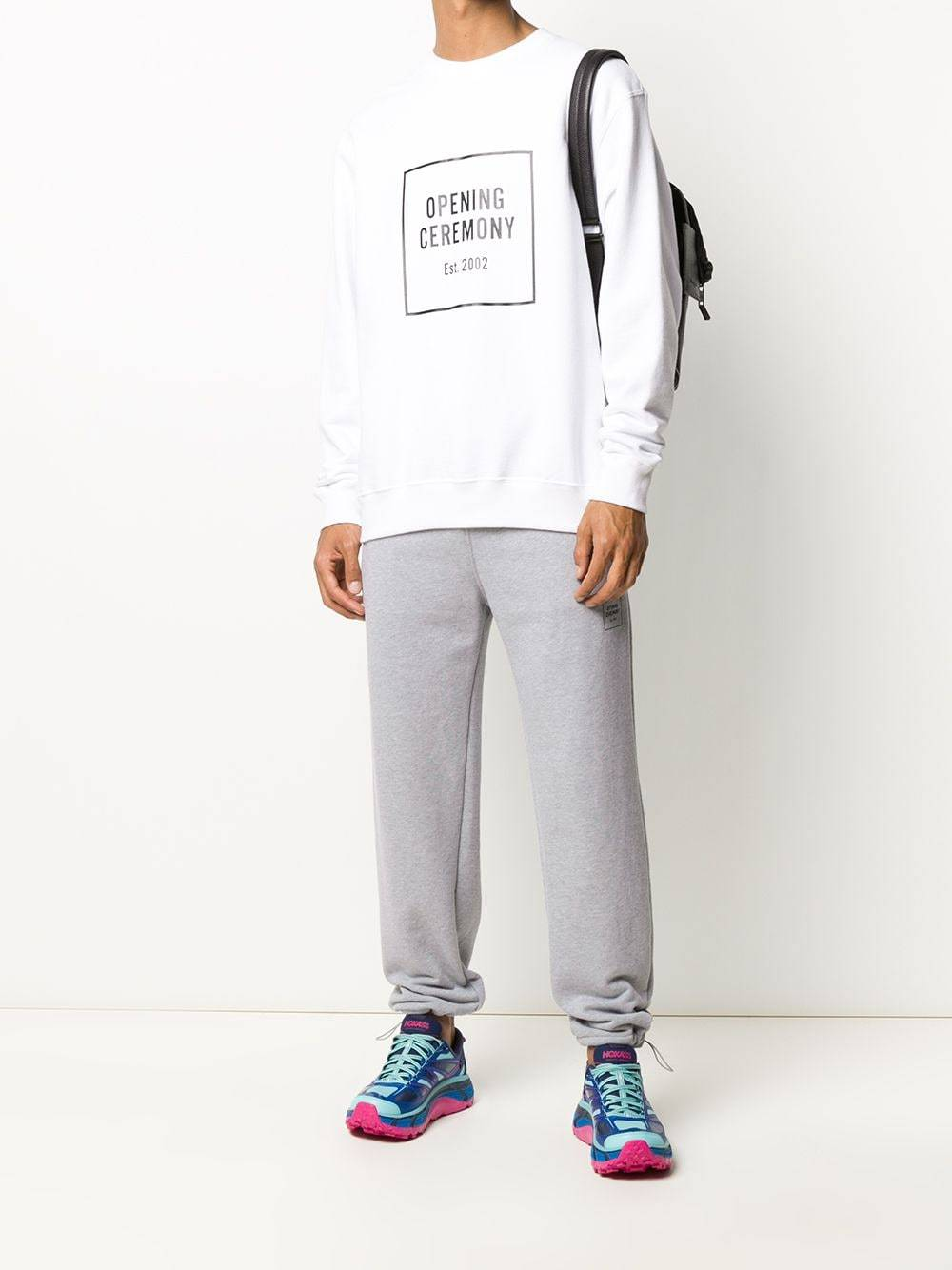 Opening Ceremony Box Logo Print Sweatpants Grey