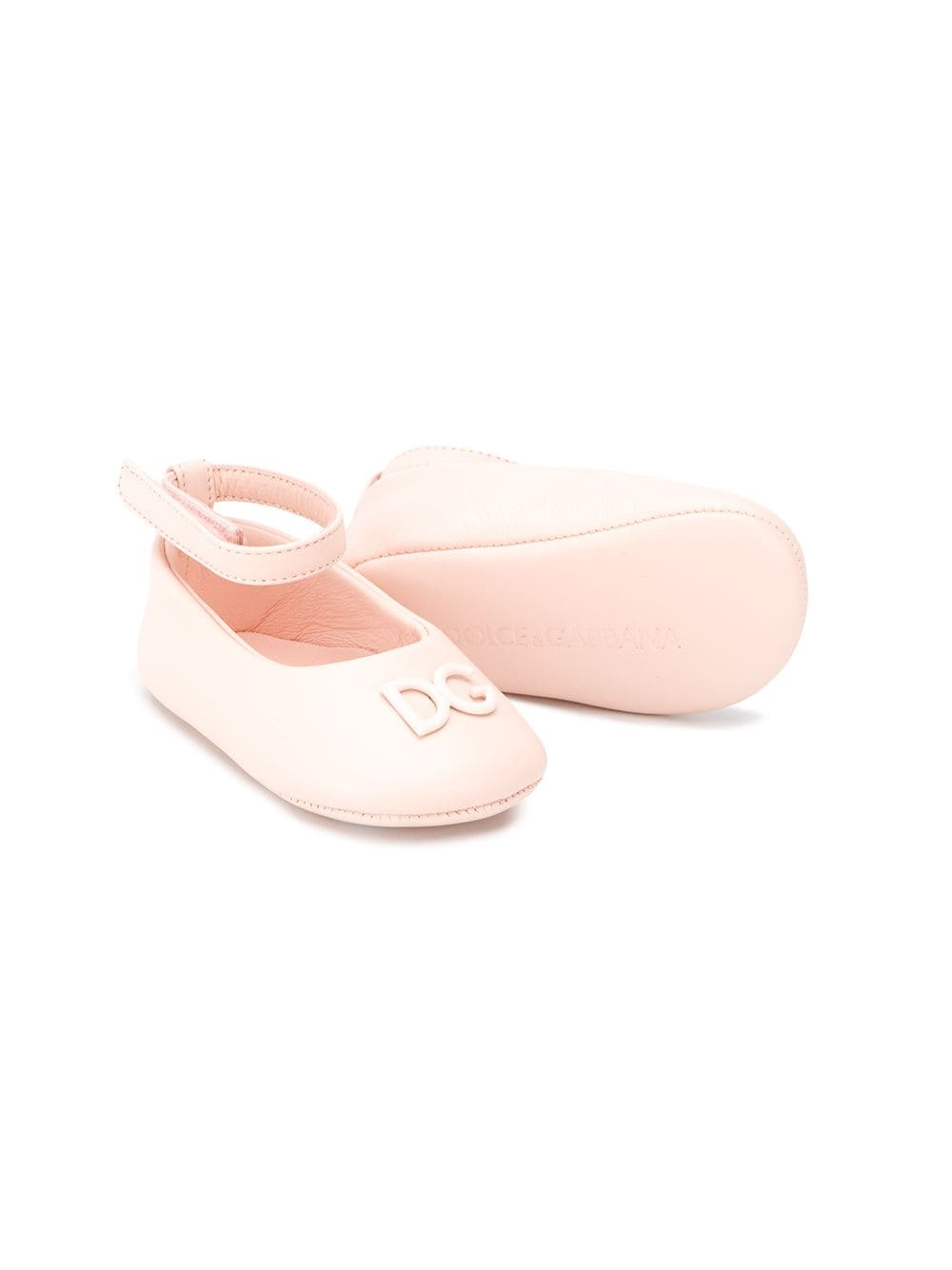 DOLCE & GABBANA KIDS Ankle Strap Ballerina Shoes Pink - Maison De Fashion