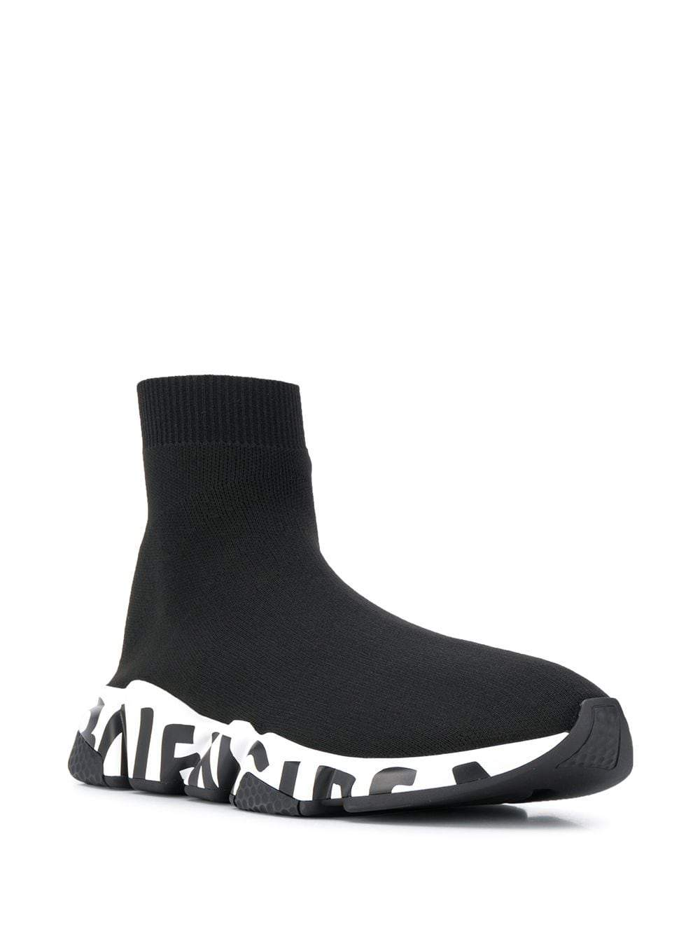 BALENCIAGA Speed Runner Black/White Graffiti