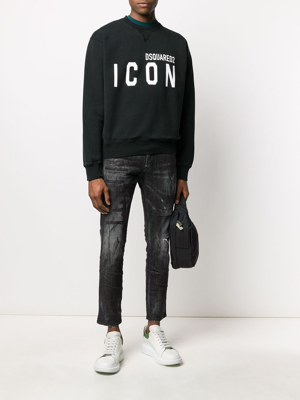 DSQUARED2 Icon Logo Sweatshirt Black/White