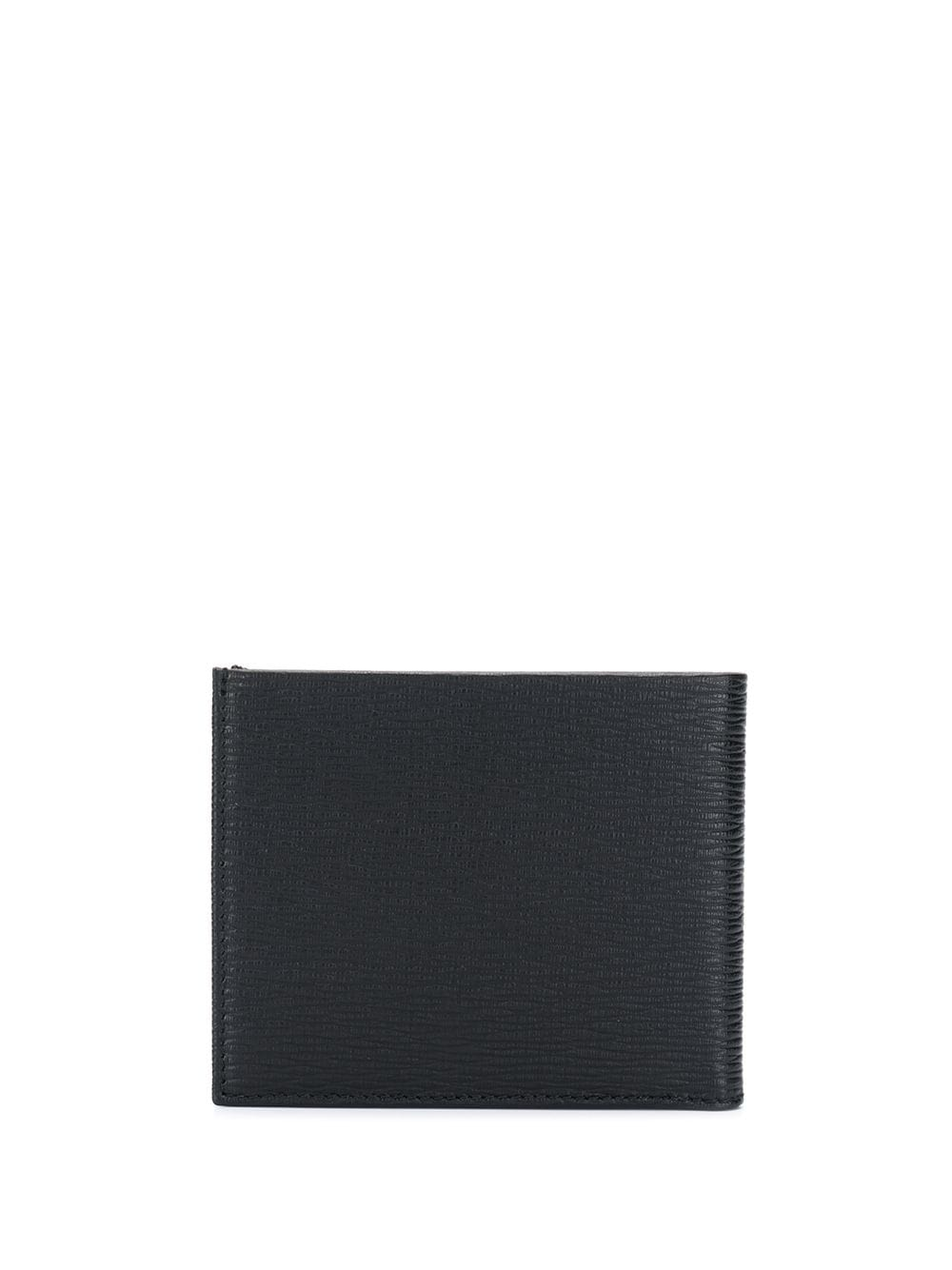 SALVATORE FERRAGAMO Grained Gancini Logo Wallet Black