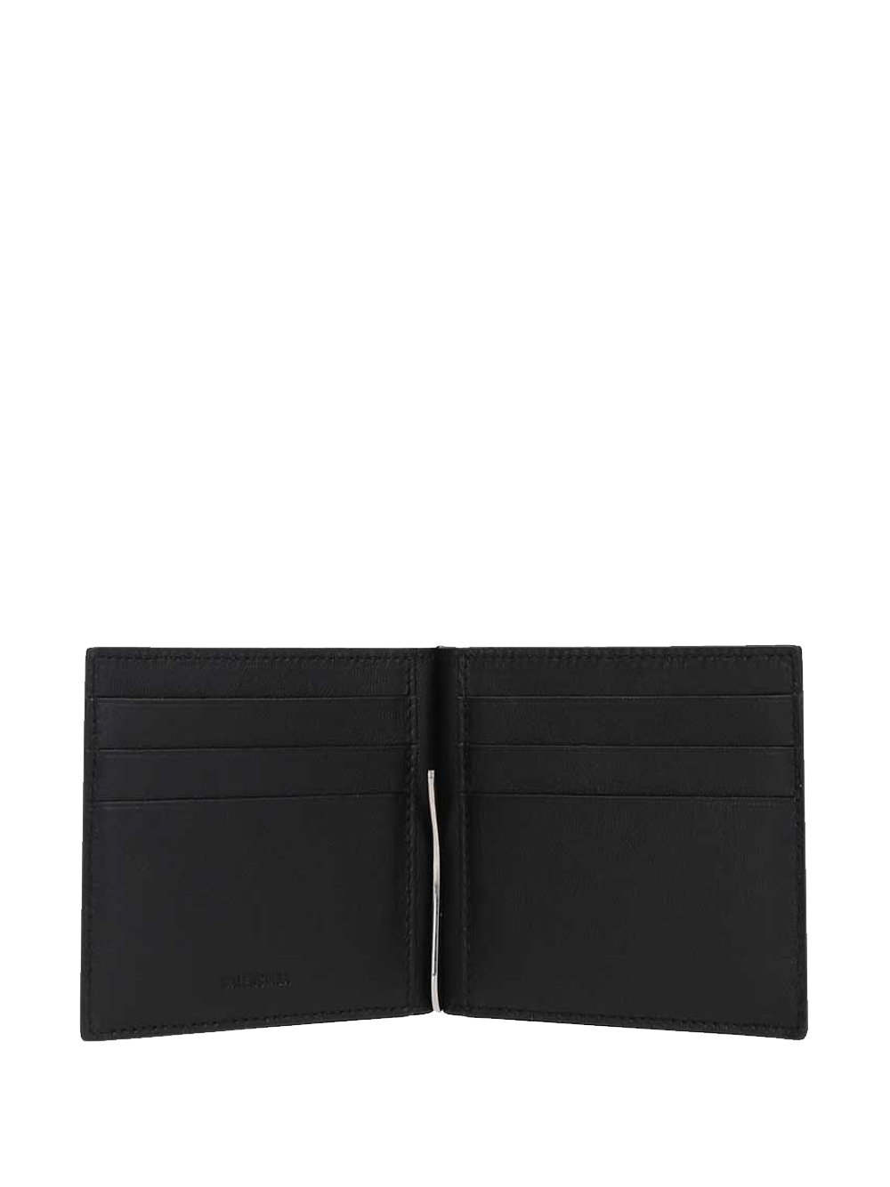BALENCIAGA Cash Fold Card Holder Black