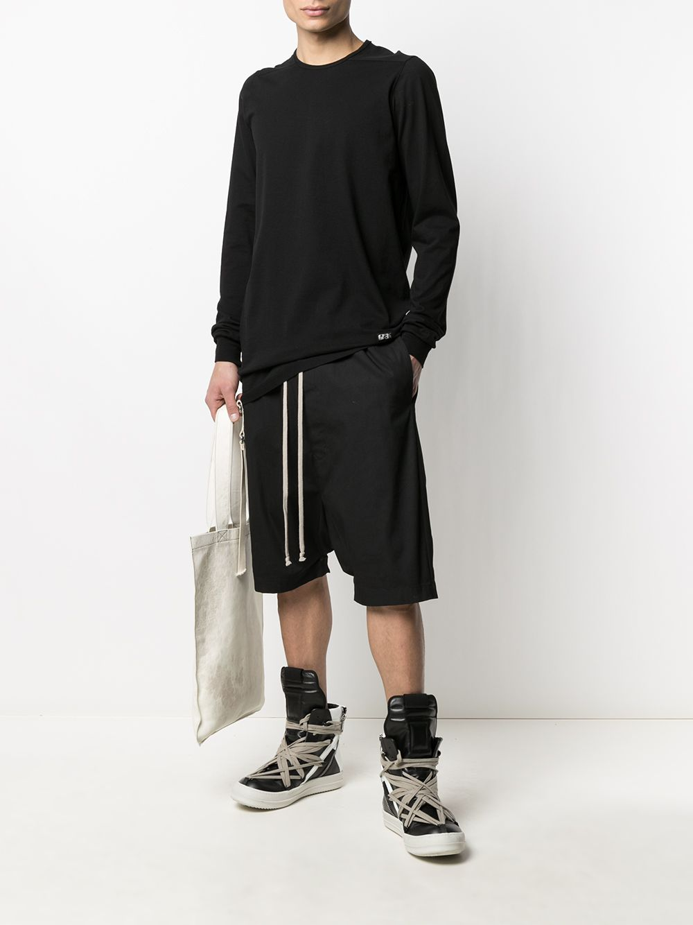 Rick Owens DRKSHDW Long Sleeve Level T-Shirt Black