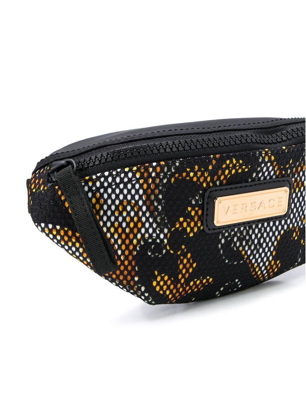 VERSACE KIDS Logo Plaque Belt Bag Black