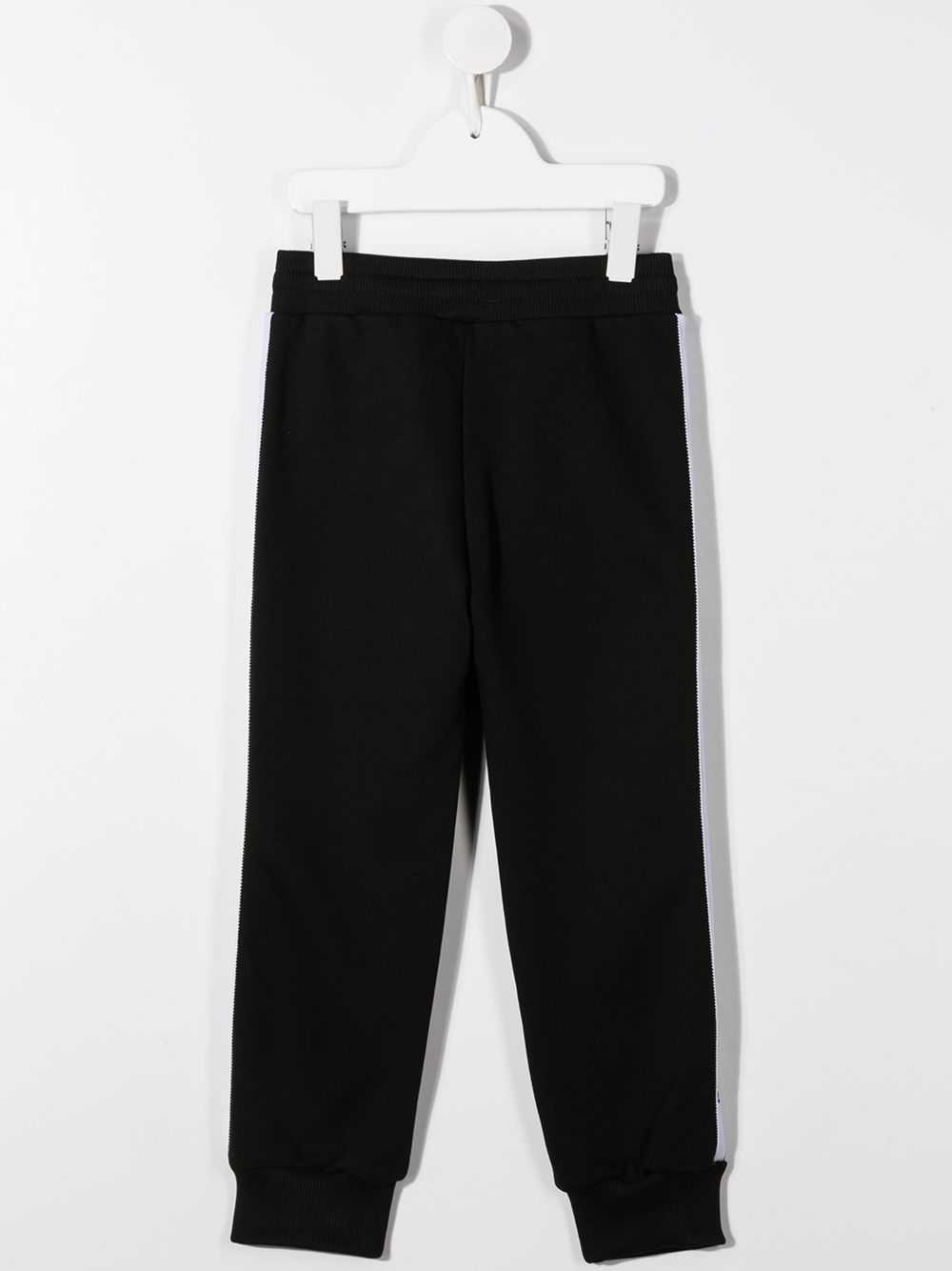 GIVENCHY KIDS Logo Tape Sweatpants Black/White - Maison De Fashion