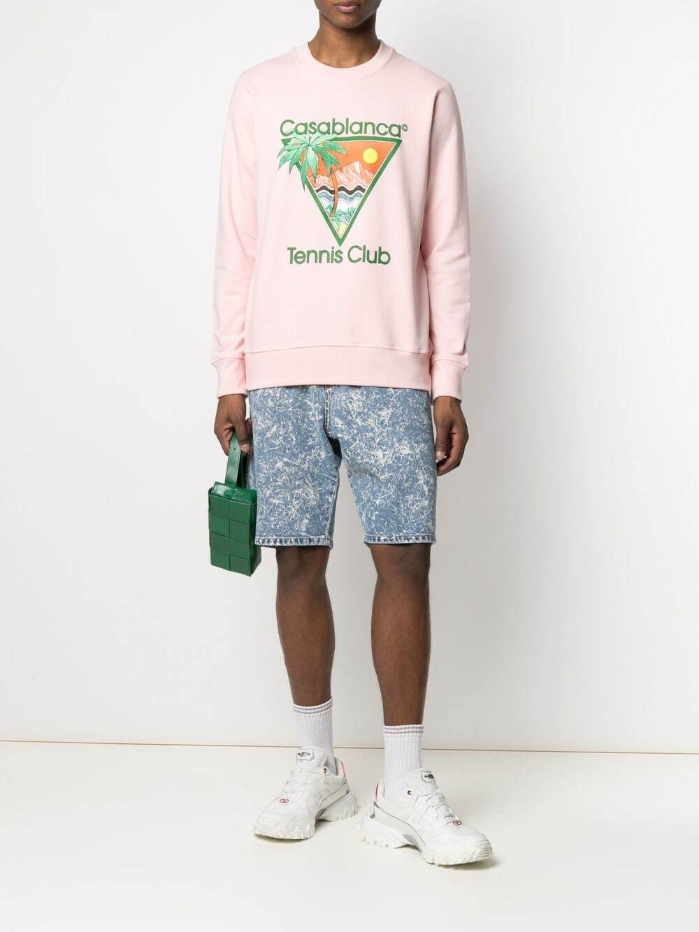 CASABLANCA Tennis Club Print Sweatshirt Pink