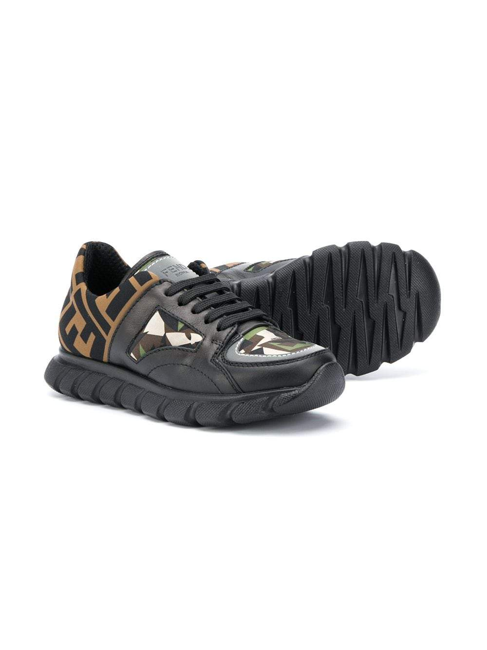 Fendi Kids FF Camouflage Sneakers