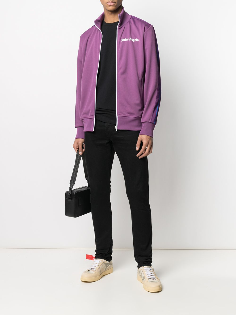 PALM ANGELS Logo Track Jacket Purple - Maison De Fashion