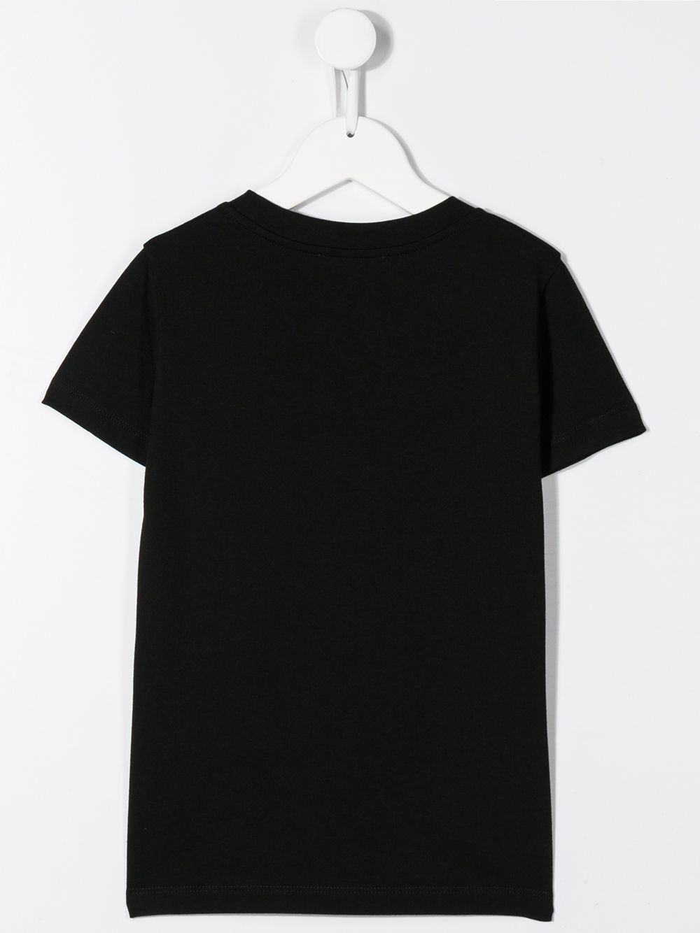 BALMAIN KIDS flock logo print t-shirt black