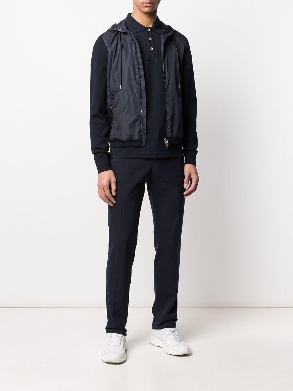 MONCLER hooded jacket navy