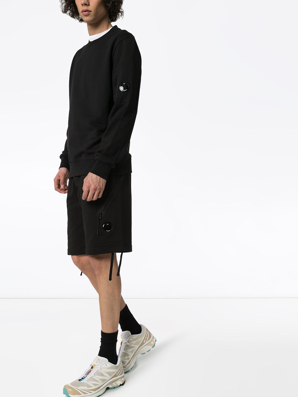 C.P. COMPANY drawstring shorts black