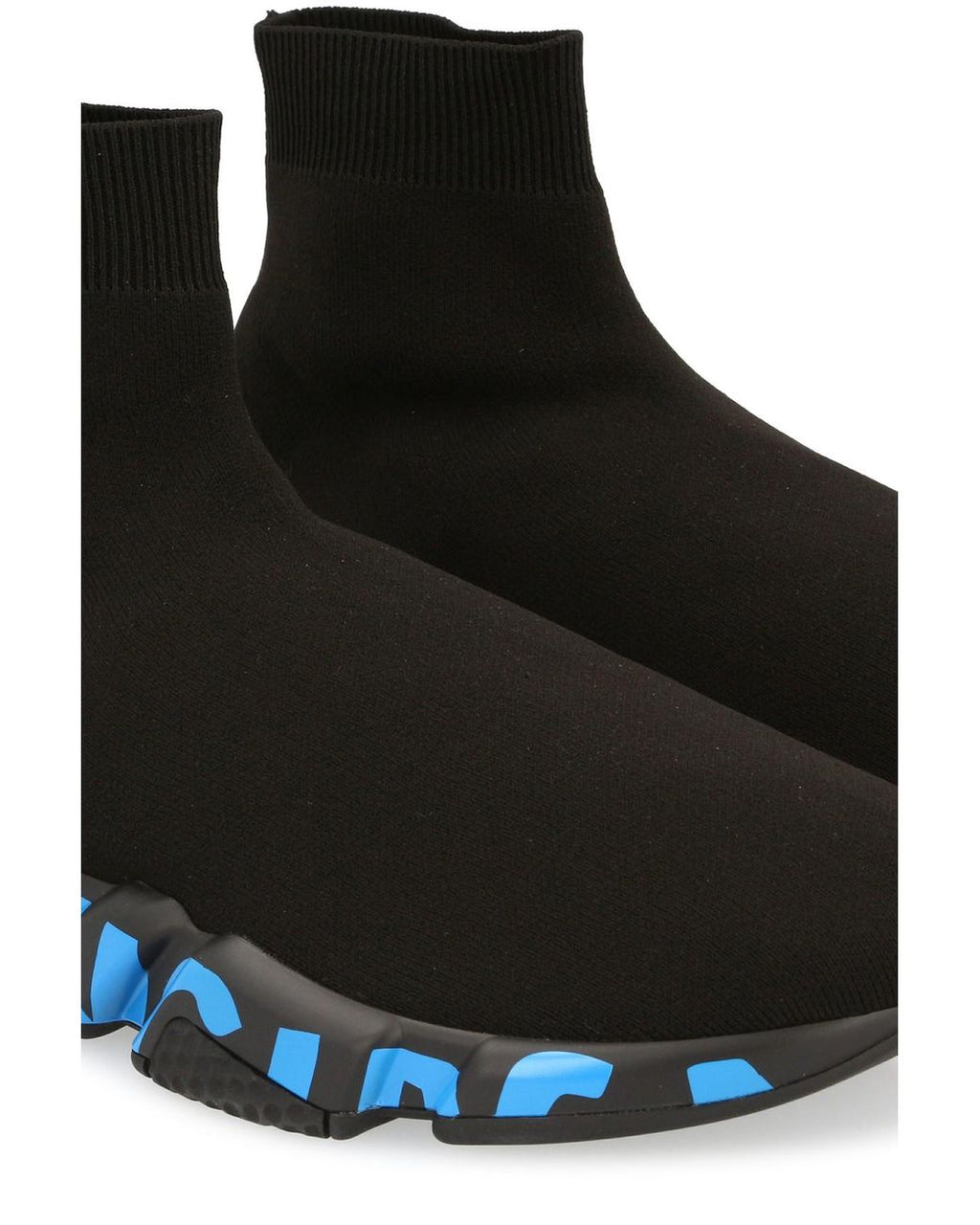 BALENCIAGA Speed Graffiti Sneakers Black/Blue - Maison De Fashion