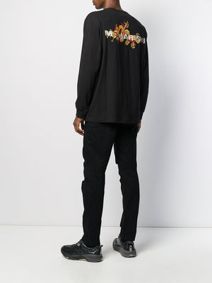 Maharishi golden sun embroidered longsleeve t-shirt