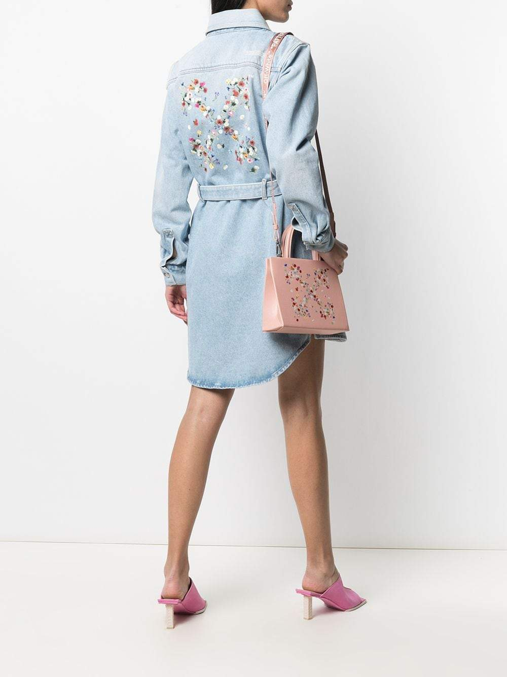 OFF-WHITE Women Arrow Denim Shirt Dress Blue