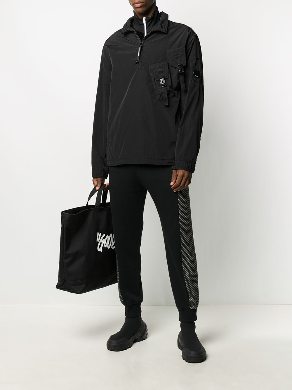 C.P COMPANY Half Zip Fitted Jacket Black