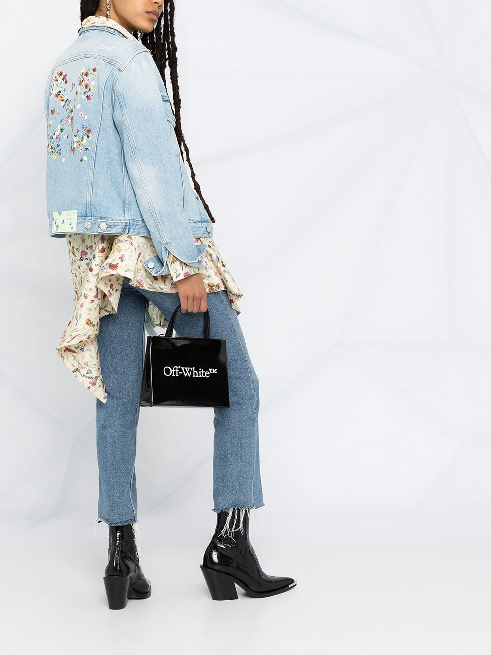 Off-White Women's Arrow Logo Denim Jacket - Maison De Fashion