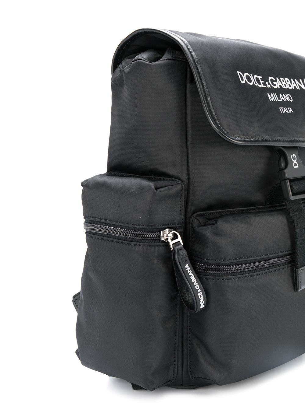 DOLCE & GABBANA KIDS Logo Backpack Black - Maison De Fashion