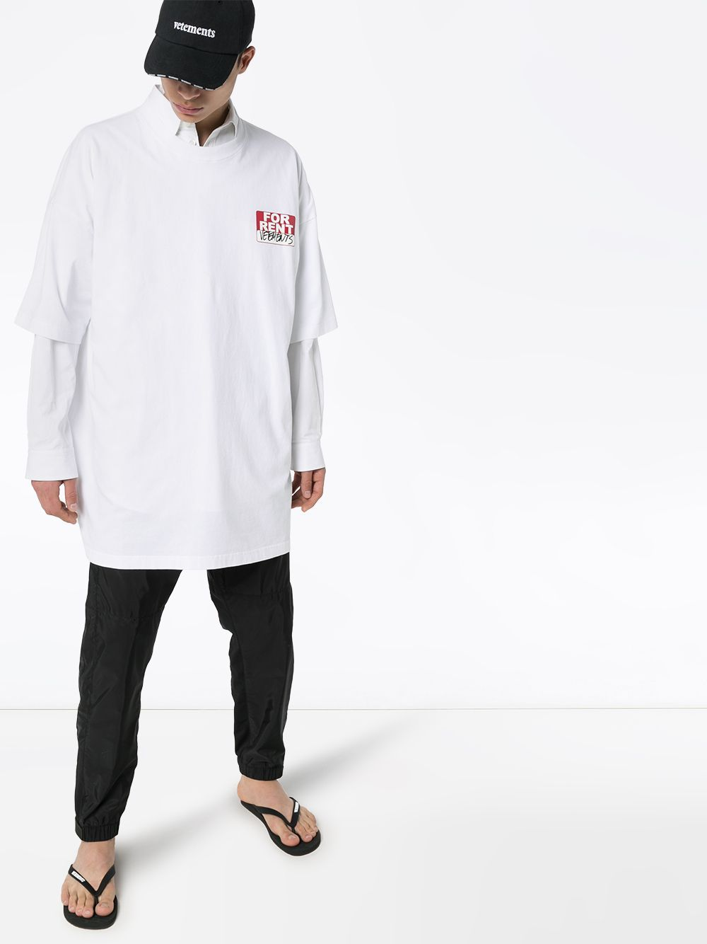 VETEMENTS 'FOR RENT' t-shirt white