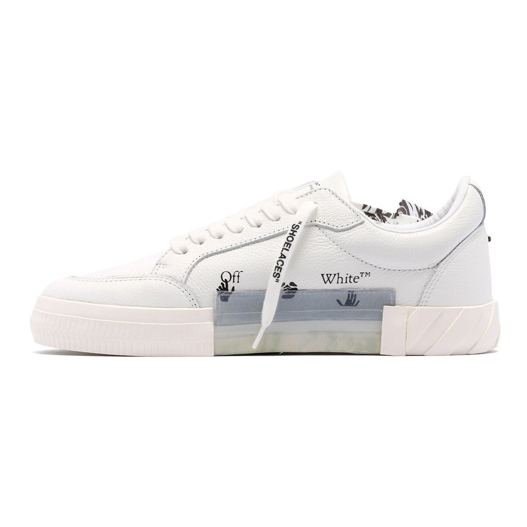 OFF-WHITE Low Vulcanized Leather White - Maison De Fashion