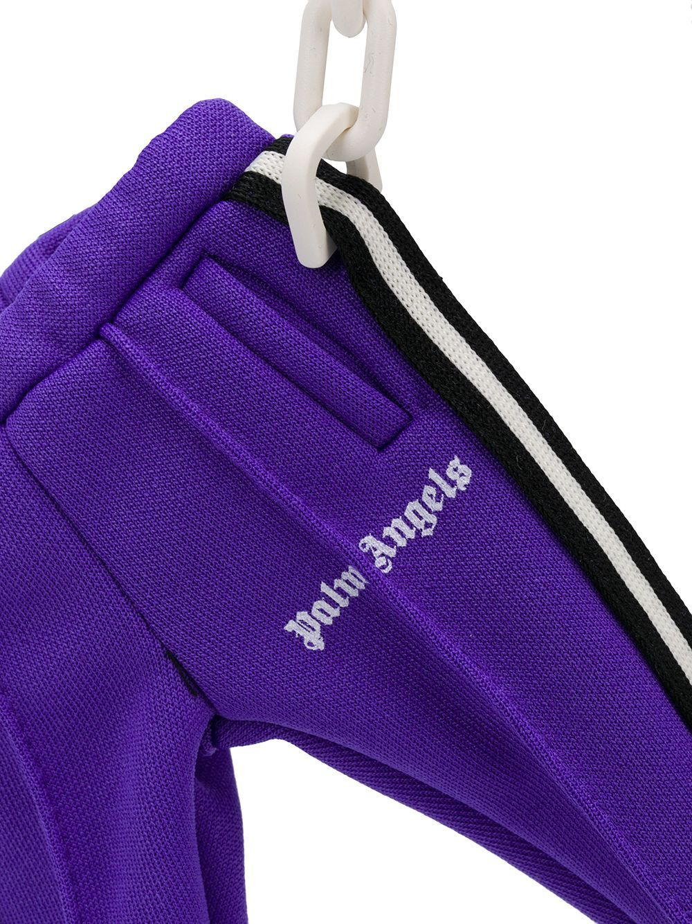 Palm Angels track pants keyring purple