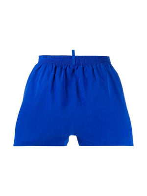 DSQUARED2 side logo print swim shorts blue/pink