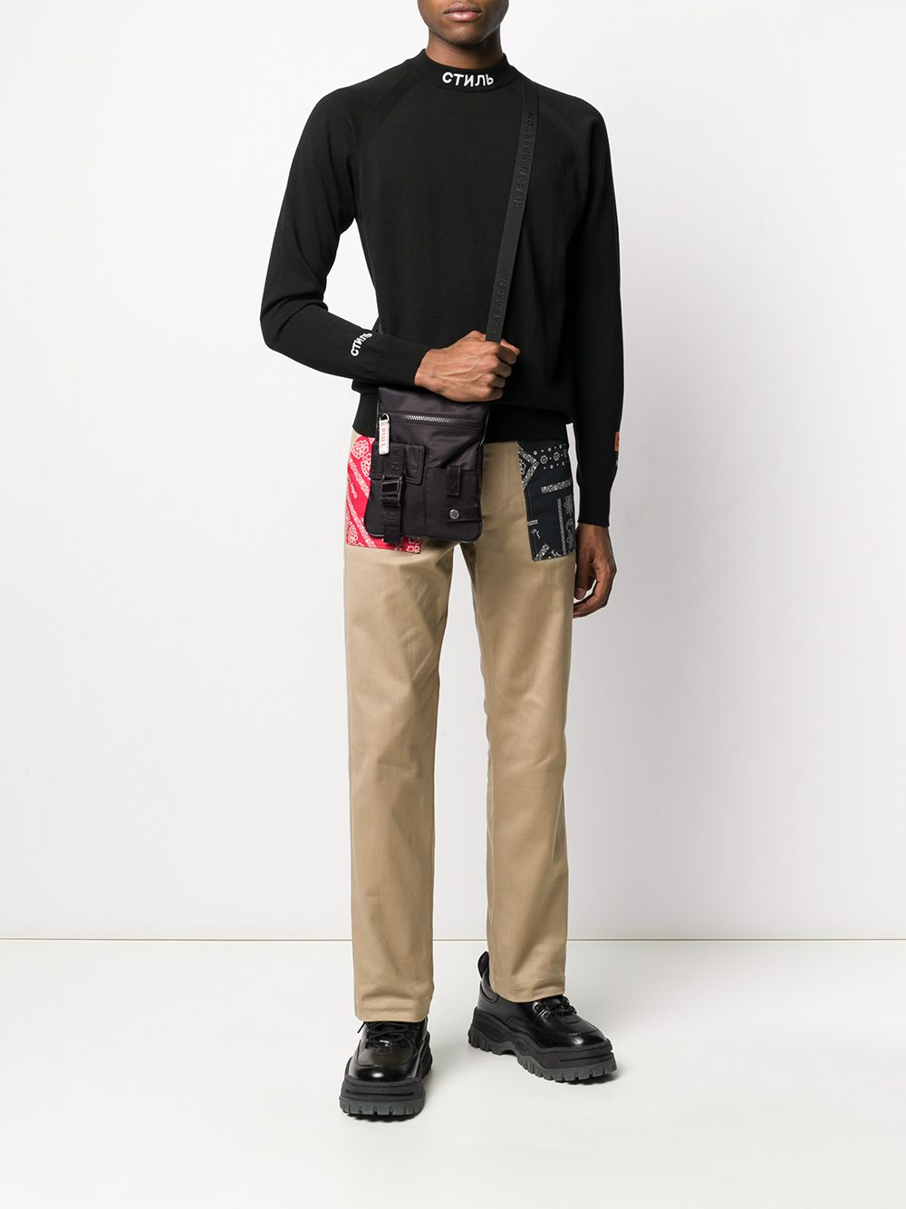 HERON PRESTON crossbody bag black